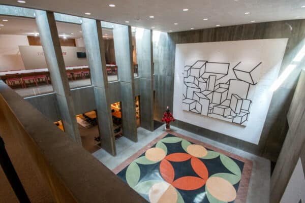 Inside the Everson Museum of Art in Syracuse NY