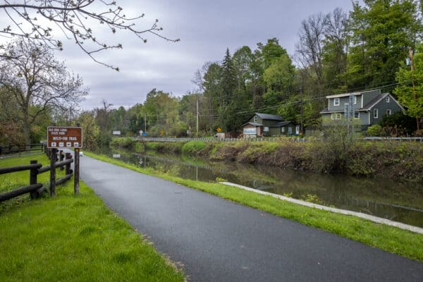Towpath at Old Erie Canal State Historic Park in the Finger Lakes