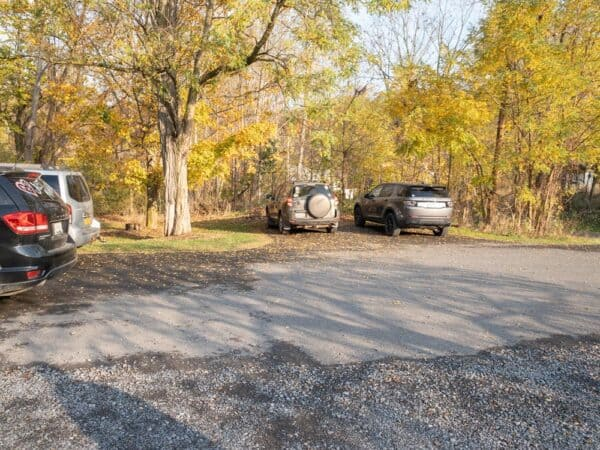Parking area for Ludlowville Falls in Tompkins County, NY