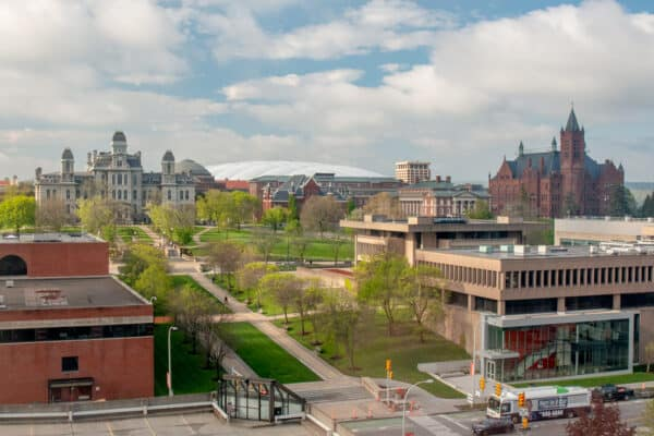 Carrier Dome and Syracuse University campus