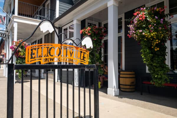 Exterior of Ellicottville Brewing Company in Ellicottville NY