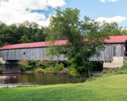 Visiting Hamden Covered Bridge in Delaware County, New York