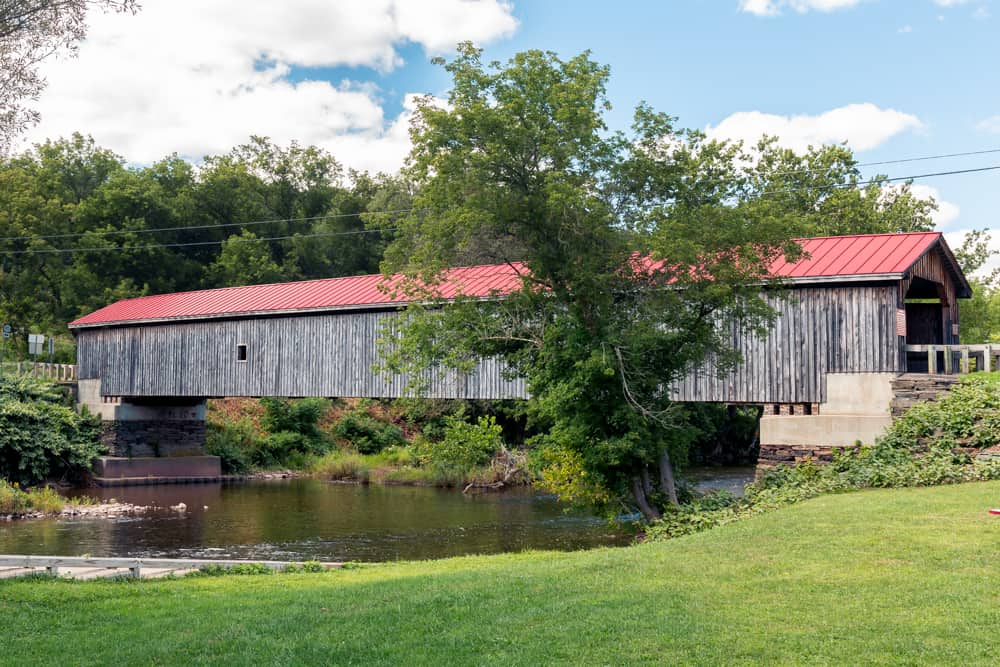 Hamden Covered Bridge in Delaware County New York
