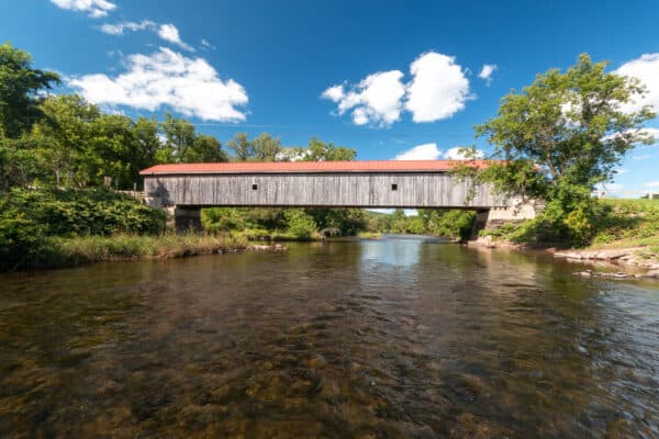 Hamden Covered Bridge crossing the West Branch of the Delaware River in the Catskills