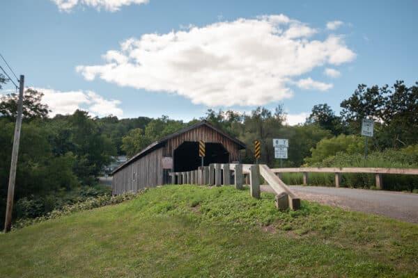 Hamden Covered Bridge in Hamden New York