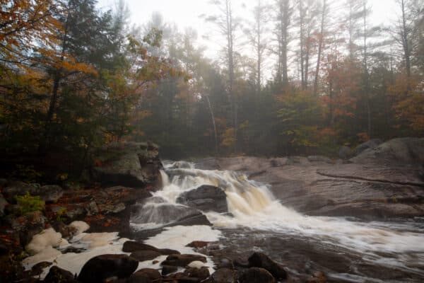 Dunkley Falls in the Adirondacks of New York