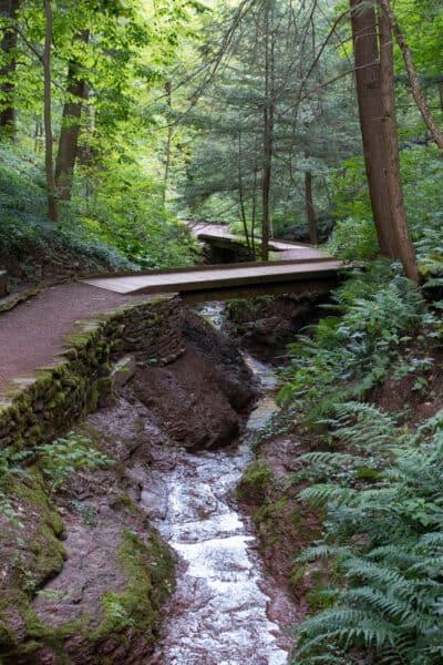 Bridges over the stream in Root Glen in Clinton NY