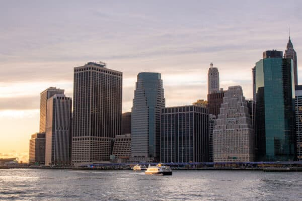 Ferries on the East River in New York City