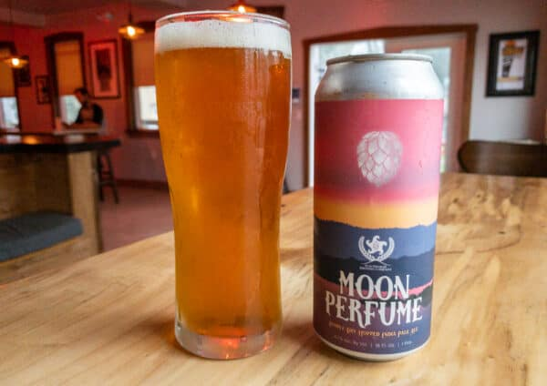 A can of delicious beer from Peacemaker Brewing Company.