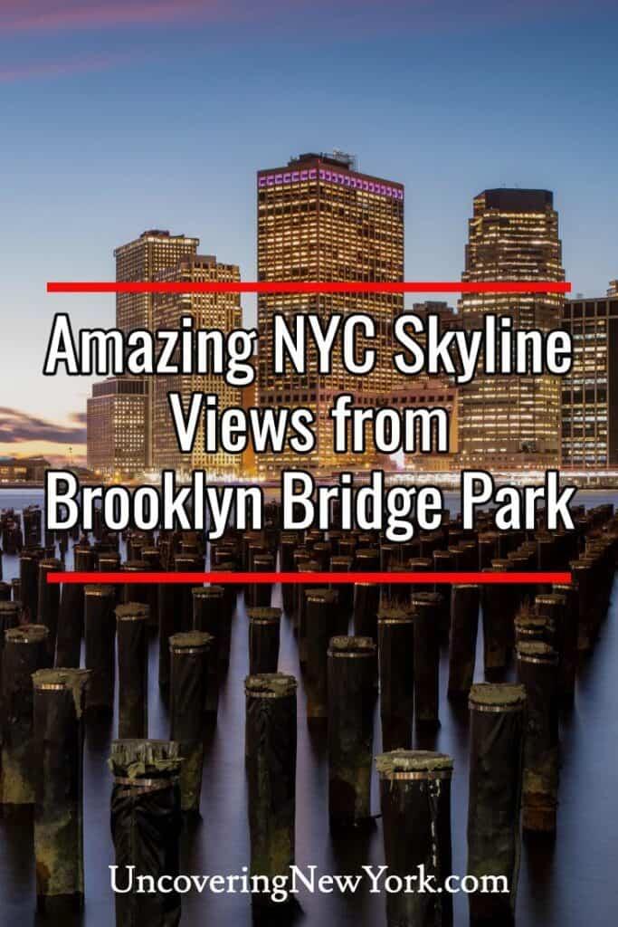 New York City Skyline Views from Brooklyn Bridge Park