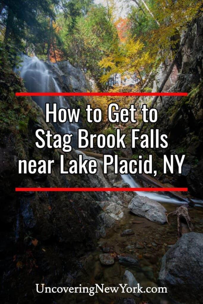 Stag Brook Falls near Lake Placid New York