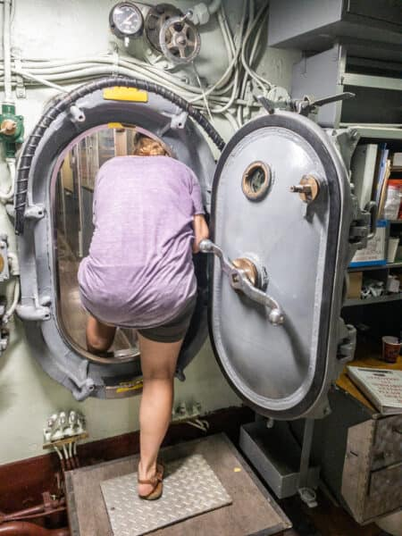 Inside the USS Croaker in the Buffalo Naval Park in New York