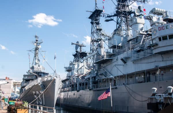 Ships at the Buffalo Naval Park in Buffalo New York