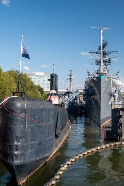 USS Croaker and USS Little Rock in Buffalo NY
