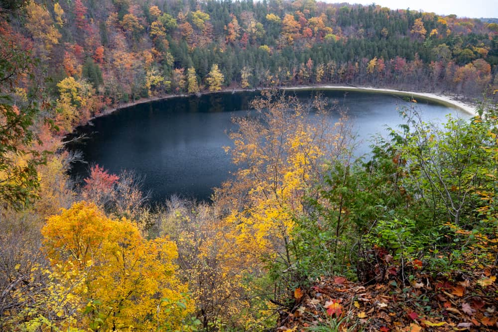 Glacier Lake in Clark Reservation State Park near Syracuse, NY