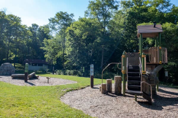 Playground at Clark Reservation State Park in Syracuse NY
