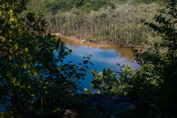 Glacier Lake at Clark Reservation State Park from above