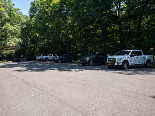 Parking area for the Lily Lake Trail in Broome County NY