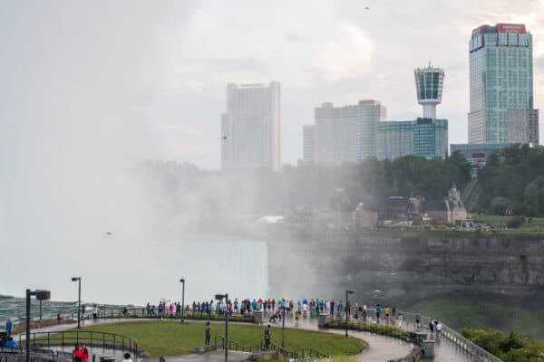 Viewing area for Horseshoe Falls in Niagara Falls State Park in New York