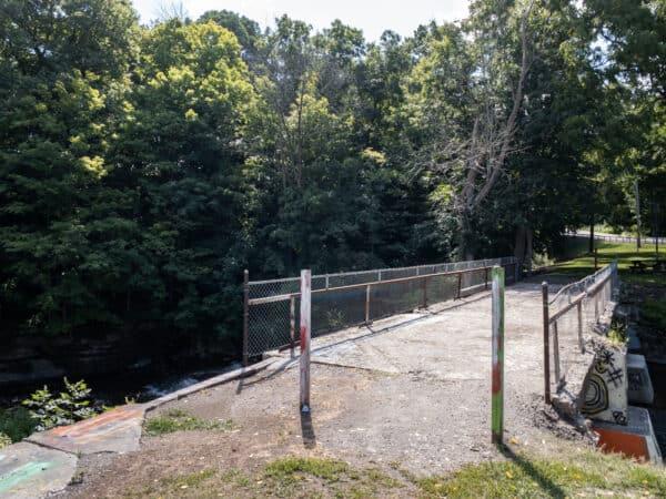 Historic bridge in Papermill Park in Livingston NY