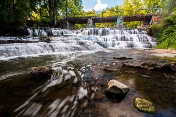 Papermill Falls on Conesus Creek in Livingston County New York