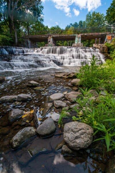 Papermill Falls in Papermill Park near Avon NY
