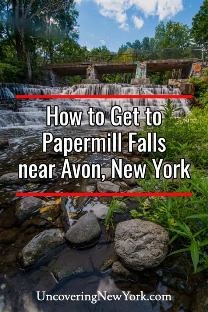Papermill Falls in Avon, New York