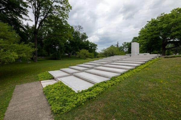 Blue Sky Mausoleum in Forest Lawn Cemetery in Buffalo NY
