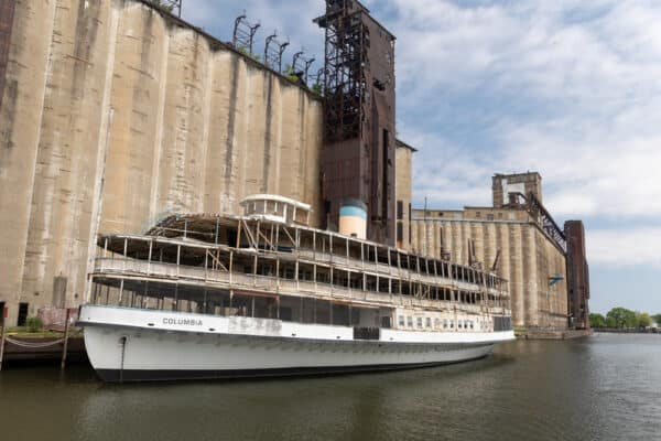 SS Columbia in the Buffalo River in New York