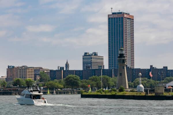 Buffalo Skyline from Lake Erie