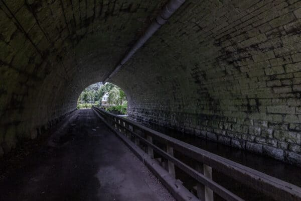 Inside the Corbett's Glen Tunnel near Rochester NY