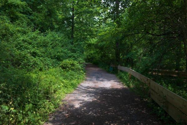 Perimeter Trail in Corbett's Glen Nature Park in Monroe County New York