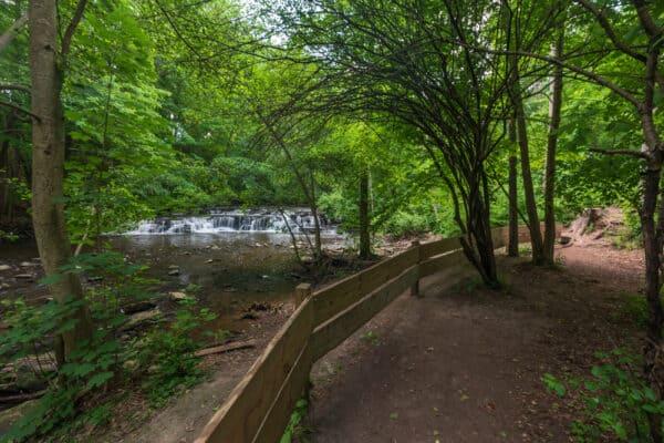 Postcard Falls in Corbett's Glen Nature Park in Rochester NY