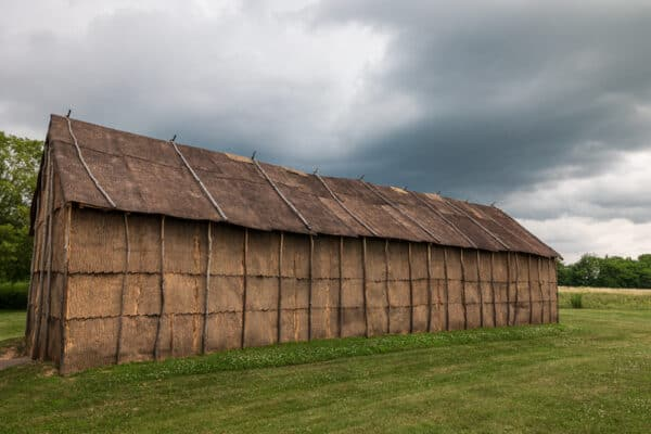 Long house at Ganondagan State Historic Site in Victor, NY