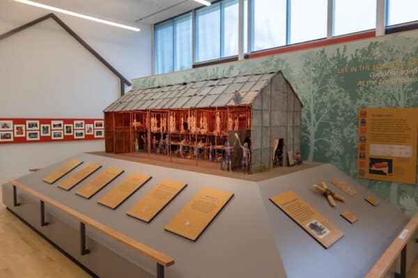 Model of the Seneca long house in the Ganondagan Museum