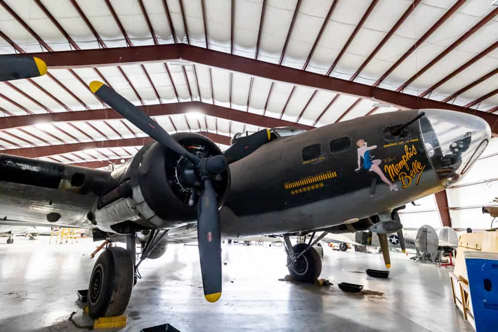 Memphis Belle World War 2 airplane at the National Warplane Museum in Geneseo NY