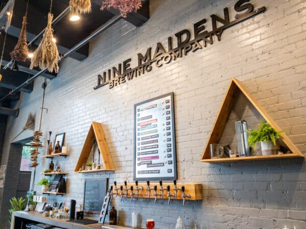 Inside Nine Maidens Brewery in Rochester New York