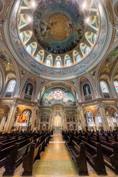 Inside the Our Lady of Victory National Shrine and Basilica near Buffalo NY