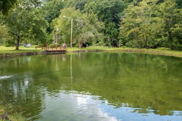 Pond at Powder Mills Park near Rochester New York