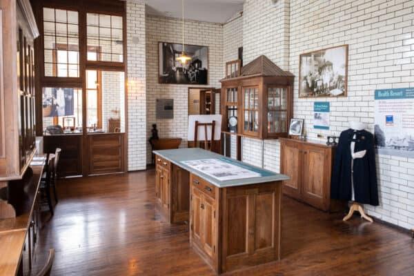 Displays inside the Saranac Laboratory Museum in Saranac Lake New York