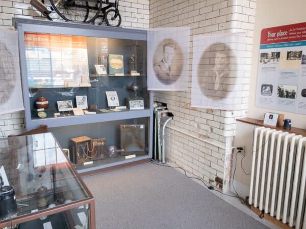 Interior displays at the Saranac Laboratory Museum in Saranac Lake New York