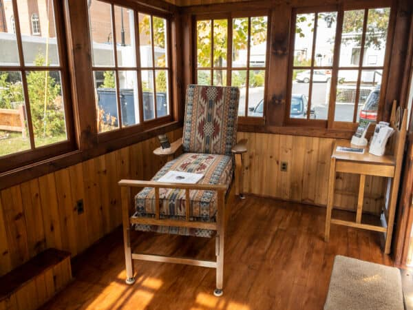 Cure Cottage on Wheels at the Saranac Laboratory Museum in the Adirondacks