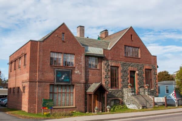 The exterior of the Saranac Laboratory Museum in Saranac Lake NY
