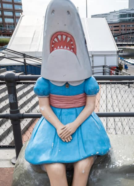 Shark Girl Statue in Buffalo New York