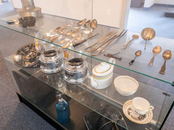 Items in the Penney Gallery at the Erie Canal Discovery Center in Lockport New York