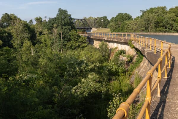 Erie Canal Aqueduct in Medina New York