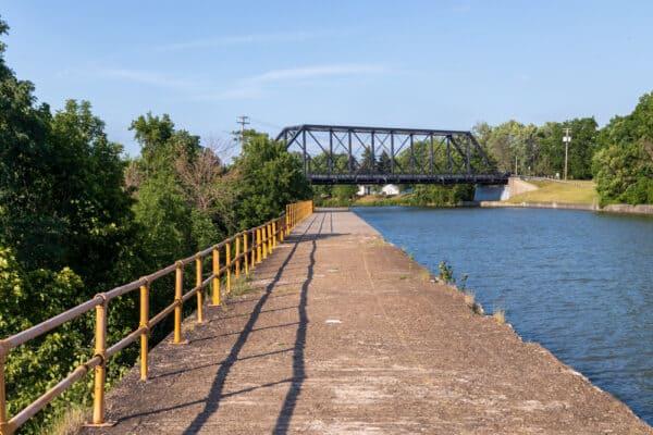 Bridge over the Erie Canal in Medina NY