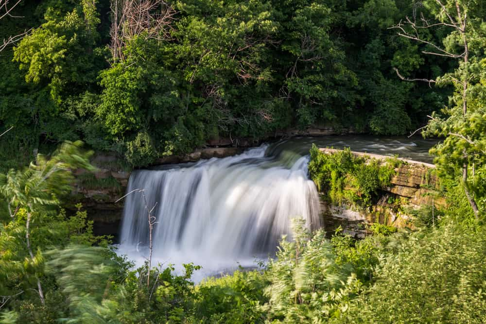 Medina Falls in Orleans County New York
