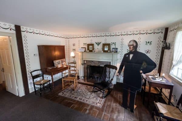 The parlor of the Millard Fillmore House near Buffalo NY