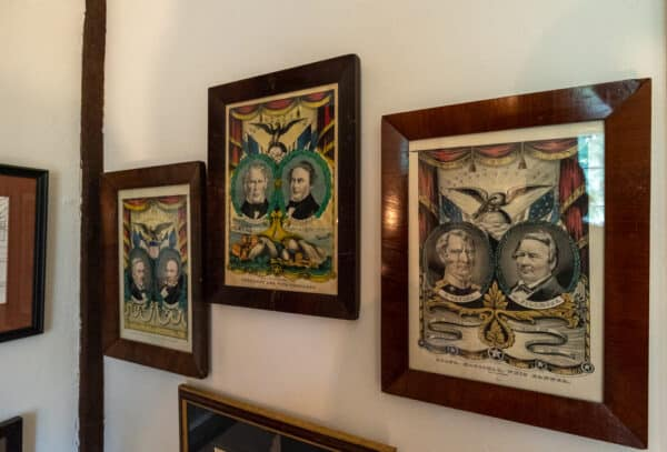 Political posters feature Millard Fillmore at this home in East Aurora NY